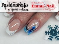 Snow-Flower Blue-White-French