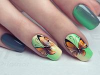 Gradient Nails Schmetterlinge