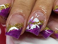 Purple Gold-Glitter