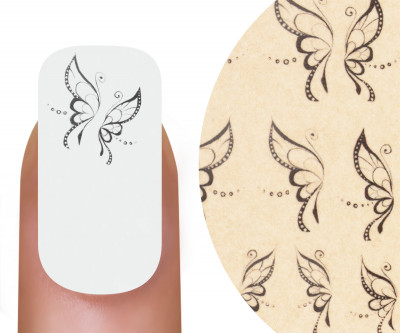 Emmi-Nail Nailsticker Black Butterfly