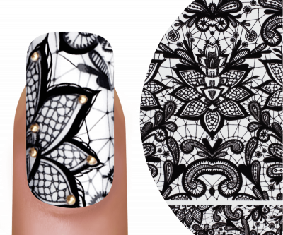 Emmi-Nail Watertattoo Black Flowers 2