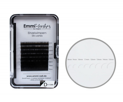 Emmi®-Lashes Silk Lashes Mixbox 8-15mm D-Curl 0,10mm