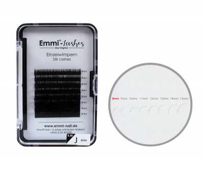 Emmi®-Lashes Silk Lashes Einzelwimpern J-Curl 0,20mm