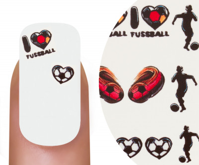 Emmi-Nail Watertattoo EM I Love Fußball