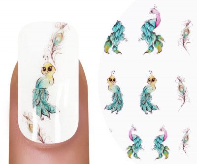 Emmi-Nail Watertattoo Pfau