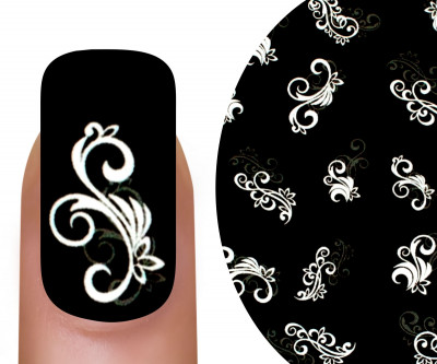 Emmi-Nail 3D Tattoo Ornament weiß