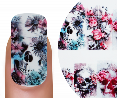 Emmi-Nail Watertattoo Skull & Flowers