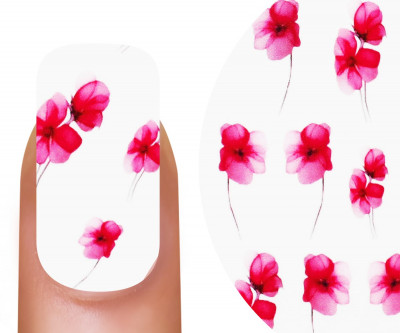 Emmi-Nail Watertattoo Spring Flowers 1