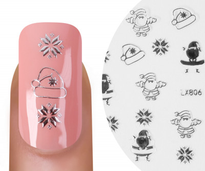 Emmi-Nail Nailsticker Christmas 3D Silber 5