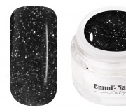 Emmi-Nail Farbgel Black Glitter 5ml -F101-