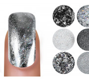 Emmi Nailart Powder-Set Silver