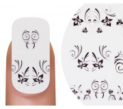 Emmi-Nail Nailsticker Black Flowers