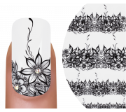 Emmi-Nail Nailsticker Black Flowers 1
