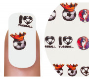 Emmi-Nail Watertattoo EM I Love Fußball Krone