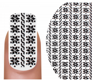 Emmi-Nail 3D Sticker Winter schwarz