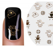 Nailsticker Christmas 3D Gold 5