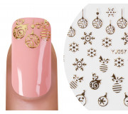 Nailsticker Christmas 3D Gold 6