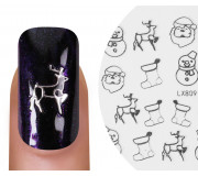 Emmi-Nail Nailsticker Christmas 3D Silber 4