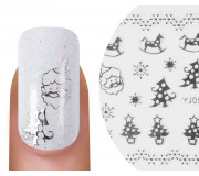 Emmi-Nail Nailsticker Christmas 3D Silber 7