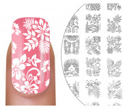 MoYou-London Stamping Schablone Tropical 02