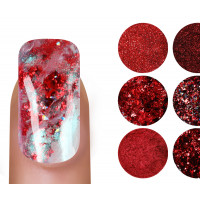 Emmi Nailart Powder-Set Rot