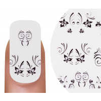 Emmi-Nail Watertattoo Black Flowers