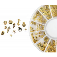 Emmi-Nail Nailart Display Muscheln gold