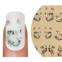 Emmi-Nail Watertattoo Katzen
