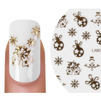 Nailsticker Christmas 3D Gold 3