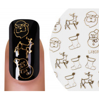 Nailsticker Christmas 3D Gold 4
