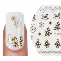 Nailsticker Christmas 3D Gold 7