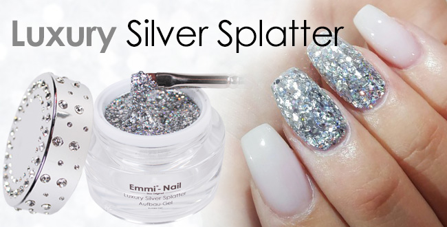 Luxury Silver Splatter