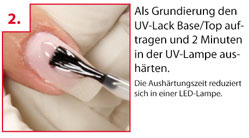 Step-by-Step Anleitung UV-Lack