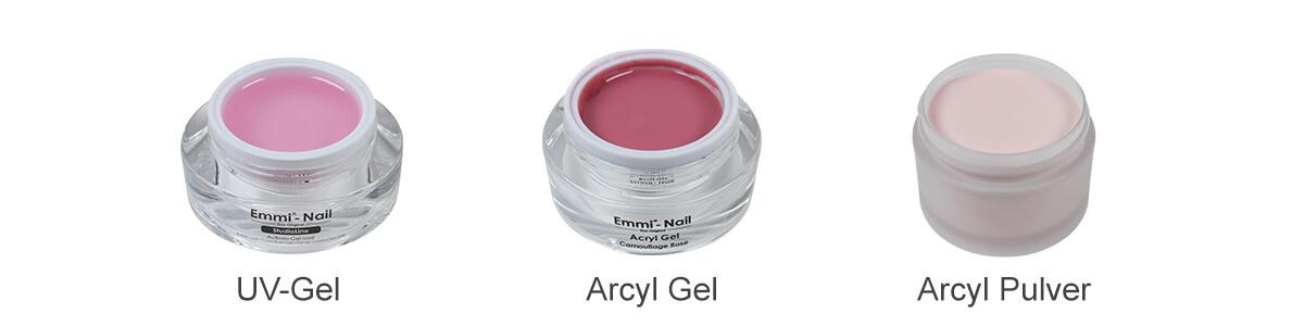 acryl gel & uv gel & acryl pulver unterschiede